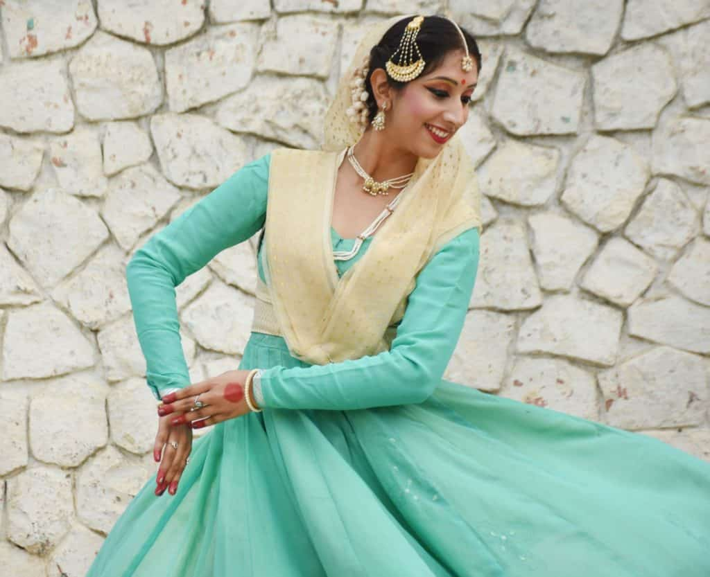 Portrait photography of Kathak dancer Siddhi Goel for Sahapedia.org