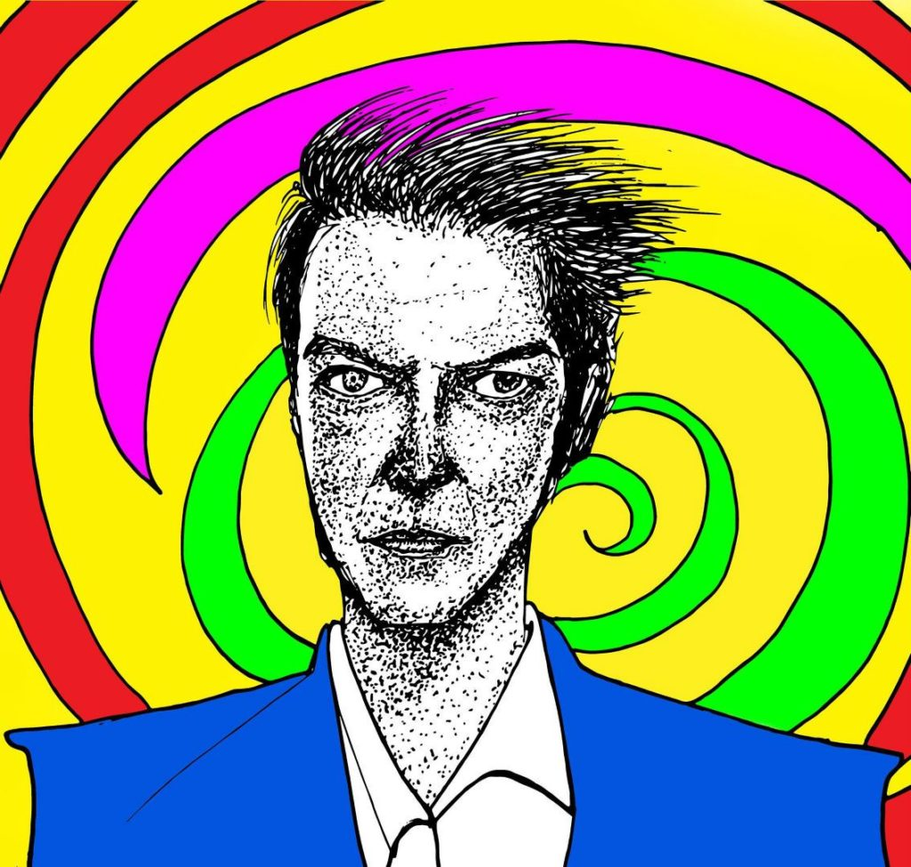 Pop-art in mixed media 'David Bowie'