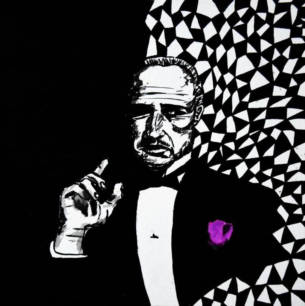 Pop-art in acrylic 'The Godfather'