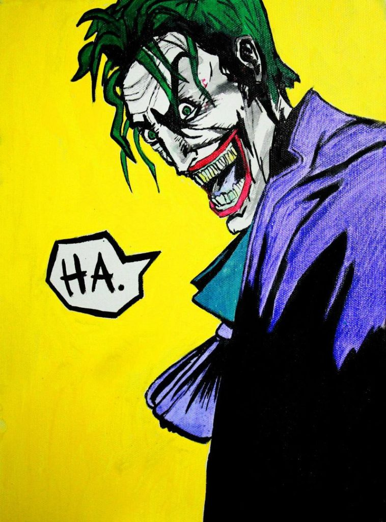 Pop-art in acrylic 'The Joker' sold at the Colombo Design Market
