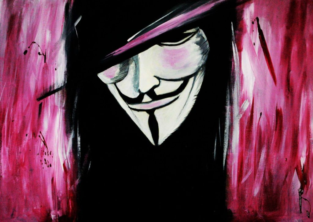 Customized art for the home of Pavithra Jovan de Mello 'V for Vendetta'